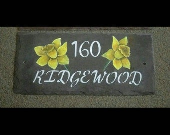 Dafodil House Sign name and number