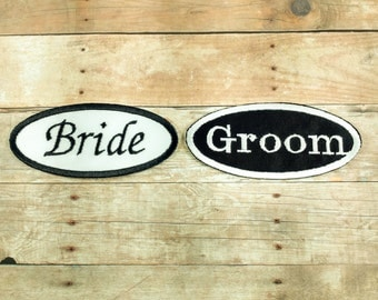 Bride and Groom Patch-Just Married Patch-Wedding Patch-Marriage Patch-Bride To Be-Groom To Be Patches