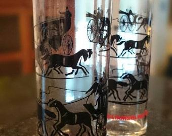 Vintage Williamsburg Virginia/ Tom Collins Glasses/ Souvenir /Federal Glass Company