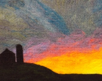 "Felted Wall Art: ""Sunrise in the Heartland"""