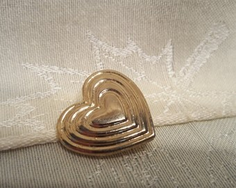 The Variety Club 1994 Golden Tone Heart Pin