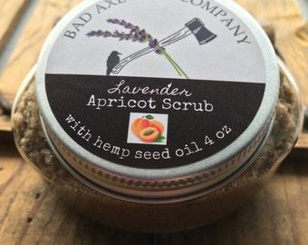 Lavender Apricot Scrub/ Apricot Scrub/ Exfoliating Apricot Scrub/ Made in Michigan/ Natural Apricot Scrub/ Apricot Facial Scrub