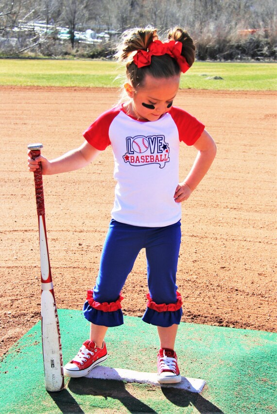 Girls LOVE Baseball Baseball Outfit Sister by ...