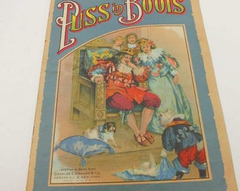 Antique Puss and Boots Illustrated Book