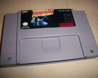 Spriggan Powered NTSC US Snes Super Nintendo Shmup Shooter Reproduction Game