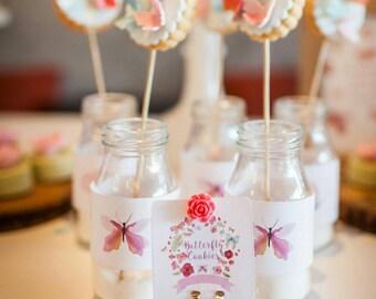Mini Milk Glass Bottle