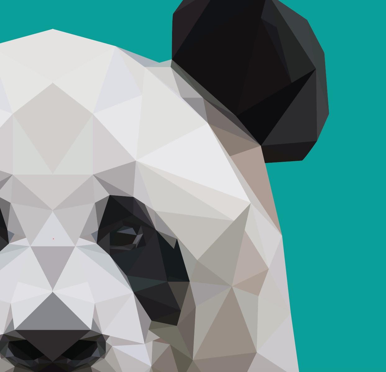 Low Poly Panda Print Geometric Bear Print Instant By