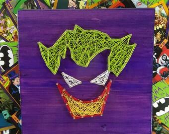 The Joker String Art Made to Order Home Decor