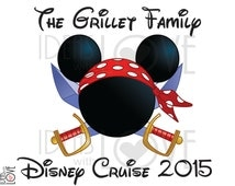DIY Disney Inspired Disney Cruise Pirate Mickey Mouse Printable Iron On Family Vacation DIGITAL IMAGE