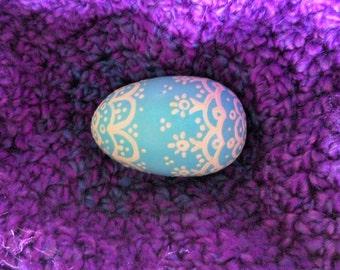 Egg - Robin's egg blue and Ivory