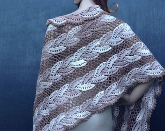 Crochet Cappuccino Color Shawl,Bridal Cover Up,Shrug,Fall Shawl,Soulder Shawl,Women Accessories,WinterWedding Shawl,Crochet Shawl