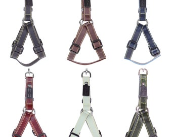 Stylish Leather Dog Harness