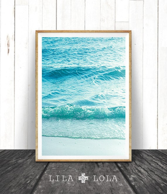 Beach Coastal Wall Decor : Beach photography printable wall art modern coastal large