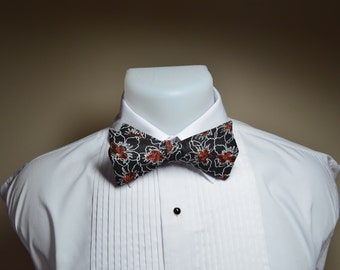 Black & Red Bow Tie