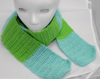Extra long earth and ocean scarf.