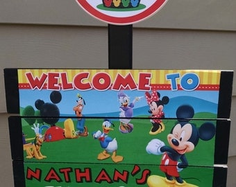 Mickey Clubhouse Yard Sign