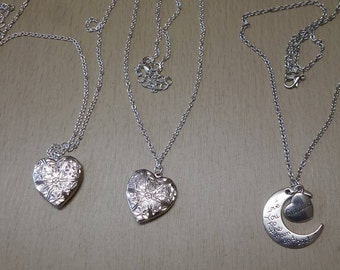various hand made necklaces