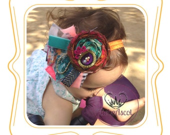 Headband stamped of vivid colors for baby Girls
