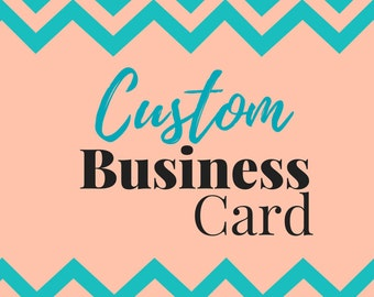 Custom Business Card for Ali