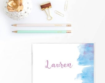 Personalized stationary set, Personalized stationery set, Personalized note cards, Personalized thank you note cards