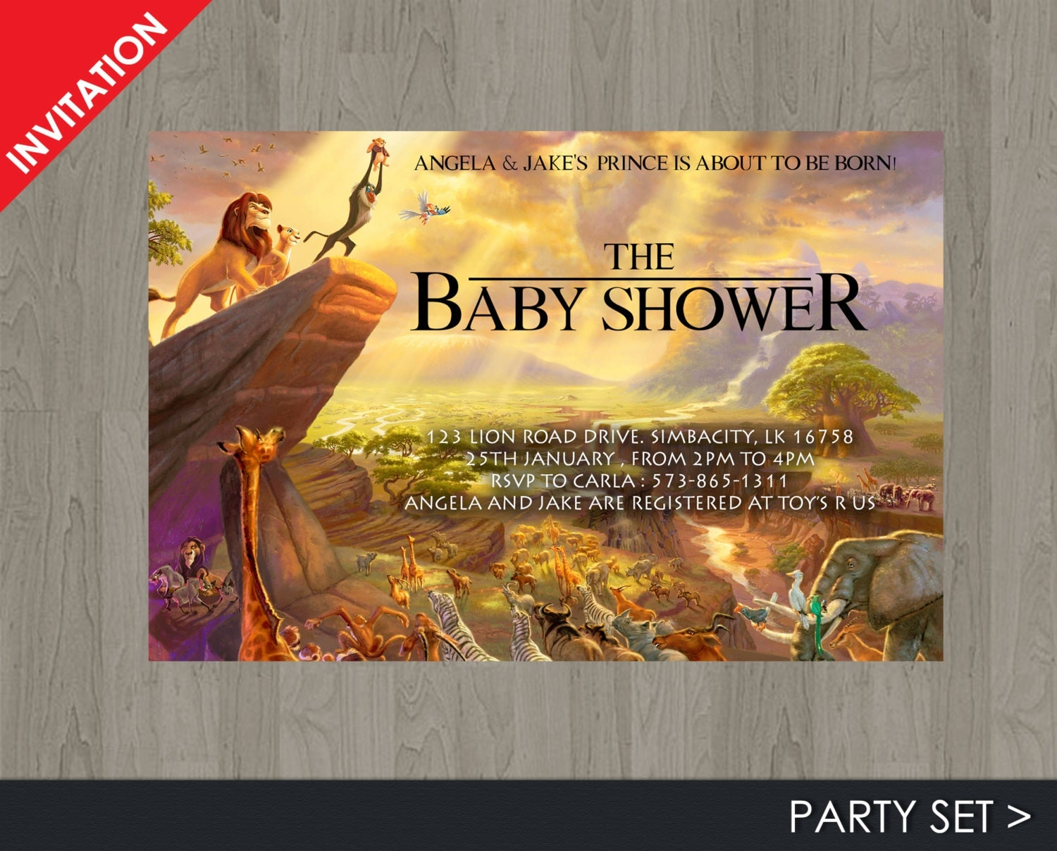 lion king baby shower invitation jungle invitation disney