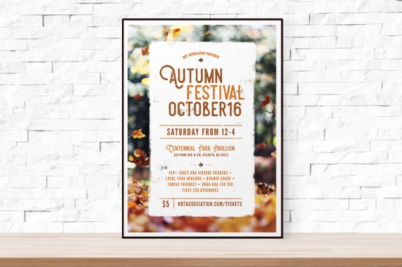 DIY Printable Fall Festival Flyer Template, Word Flyer Templates, Bazaar  Flyer, Kids Party, Outdoor Picnic Flyer, Autumn Flyer From TheFlyerPress On  Etsy ...