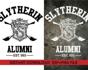 Slytherin Alumni Clip Art,T shirt, iron on , sticker, Vectors files ,Personal Use