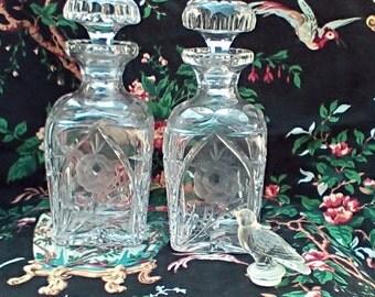 Cut Glass Barware Decanters Set