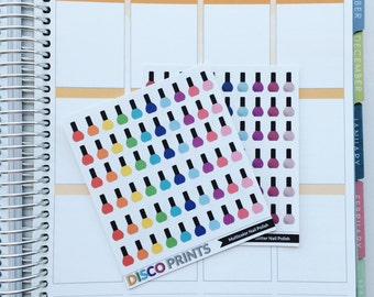 Nail Polish Stickers (60 Matte Planner Stickers)