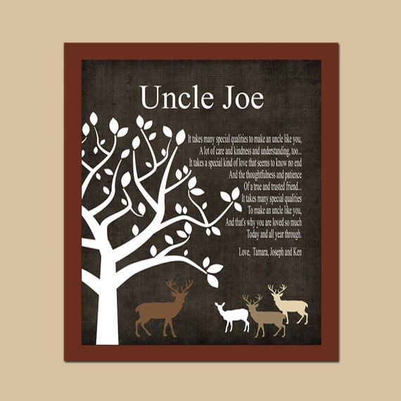 Uncle Gift- Rustic Deer GiftGift from Bride and Groom on Wedding ...