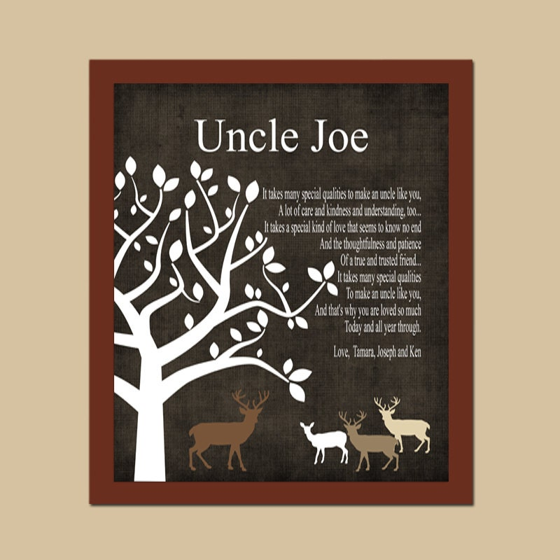 Custom Uncle Gift Rustic Deer Gift Gift From By