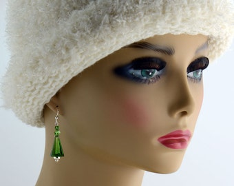 Green and Silver Earrings - E1921