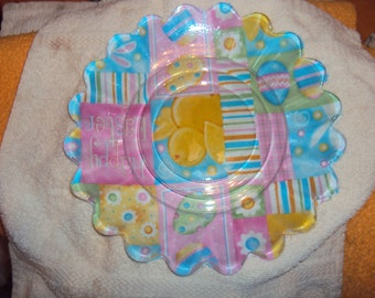 Decoupage Easter Serving Plate