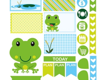 FRIENDLY FROGS Weekly Theme sticker set Perfect for Erin Condren Life Planner