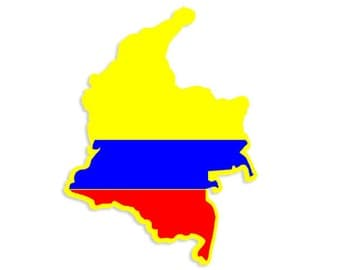 Colombian Map Car sticker
