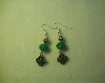Wire Earrings with Beads and Italian Dangle