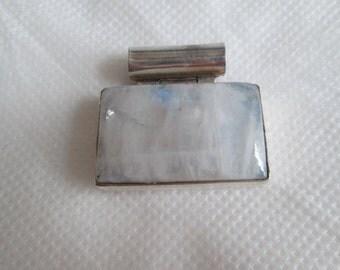 Silver Modernist Quartz Pendant