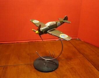 Vintage FFVS J22 WW2 Metal Desktop Display Model Swedish Air Force 1940's Rare Fighter Flygvapnet
