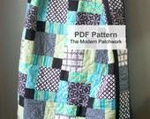 PDF Quilt Pattern, Quilt Pattern, Lap Quilt Pattern PDF, Quilt Pattern PDF, Modern Quilt Pattern, Modern Quilt