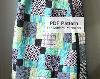 Pdf quilt pattern | Etsy : modern patchwork quilt designs - Adamdwight.com