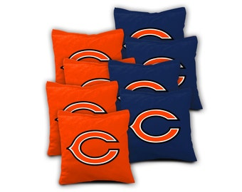 CHICAGO BEARS Set of 8 ACA Regulation Cornhole Bags Bean Bag Toss