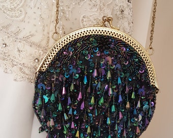 "Vintge Beaded Evening Bag 1960""s"