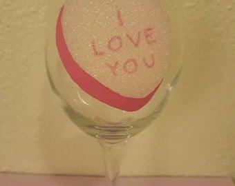 Conversation heart glass