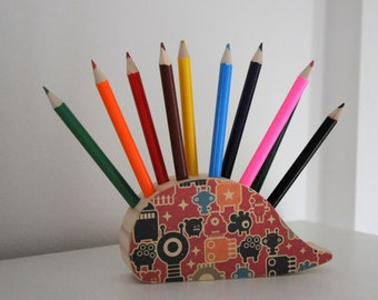 Wooden Pencil Case-Animal figure