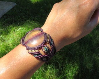 Macrame Bracelet with colourfull Fluorite