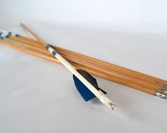 Vintage Wooden Painted Archery Arrows