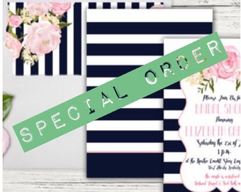 Special order for Ashley
