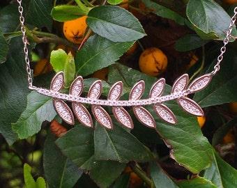 Large Leaf Necklace 925 / Sterling Silver