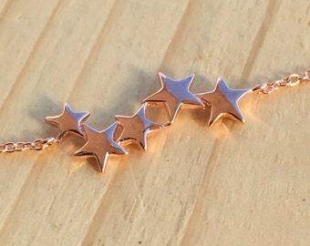 Plain Five Stars Bracelets 925 / Sterling Silver