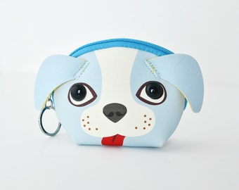 BLUE DOG • coin pouch • keychain